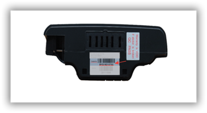 Battery serialnumber